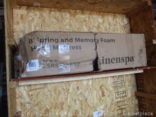 "Linenspa 8"" Spring and Memory Foam Hybrid Mattress, Twin XL"