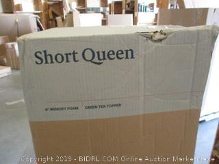 "Zinus 4"" Memory Foam Mattress, Short Queen"