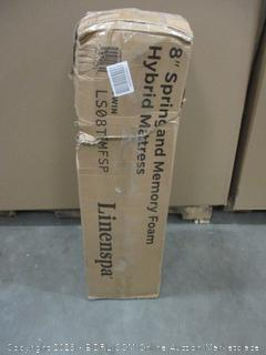 """Linenspa 8"""" Spring and Memory foam Hybrid Mattress Twin factory sealed"""