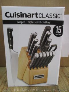 Cuisinart Classic Forged Triple-Rivet Cutlery 15 Piece Block Set