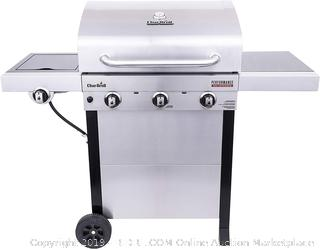 Char-Broil 463370719 Performance TRU-Infrared 3-Burner Cart Style Gas Grill, Stainless Steel (Retail $309.00)