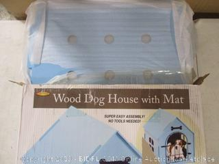 Wood Dog House With Mat