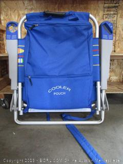 Folding Chair With Cooler Pouch