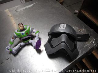 Buzz Lightyear Toy & Captain Phasma Mask