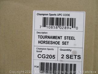 Tournament Steel Horseshoe Set