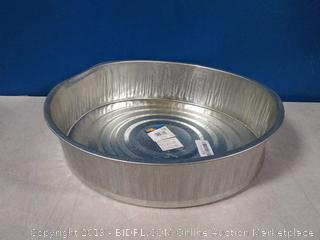 "Galvanized Utility Drain Pan, 16"" X 4"", 3 1/2 Gal(crooked)"
