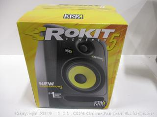 KRK RP5G3 ROKIT 5 G3 2-Way Powered Studio Monitor (Discontinued), Black, 5-Inch (RP5G3-NA)