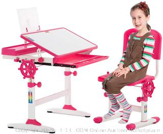 FDW Table Chair Set with Drawer for Kids Children's Study Desk (online $99)