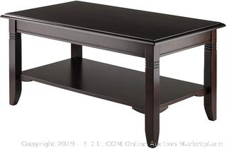 Winsome Wood 40237 Nolan Occasional Table, Cappuccino (online $94)