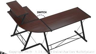 L Shaped Desk Home Office Desk with Round Corner (online $129)