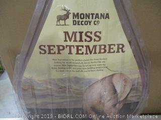 Montana Decoy Miss September Feeding Elk