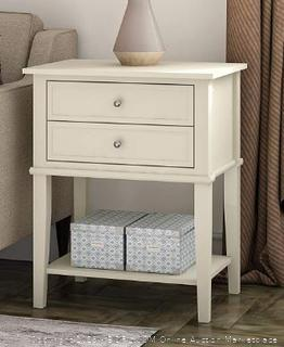 Ameriwood Home 5062096PCOM Franklin 2 Drawers, Soft White Accent Table
