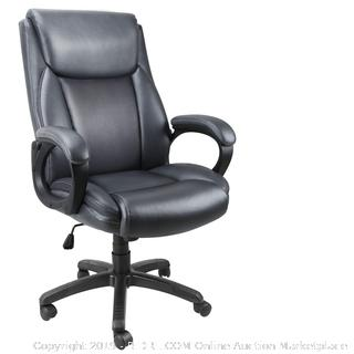 mysuntown exclusive office chair high back founded leather swivel chair with padded arms and lumbar support for big tall users (online $199)