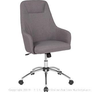 Gray Upholstered Desk Chair (online $167)