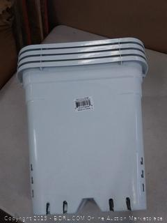 "Hydrofarm White 12"" x 12"" Square Planter pot HG12x12S cnt of 4"