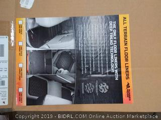 Rugged Ridge 1298 8.04 black front rear and cargo floor liners