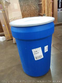 """Eagle 1601MB Blue High Density Polyethylene Lab Pack Drum with Metal Lever-lock Lid, 30 gallon Capacity, 28.5"""" Height, 21.25"""" Diameter"""