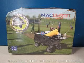 Mac Sports Collapsible Outdoor Utility Wagon with Folding Table and Drink Holders, Gray (online $89)