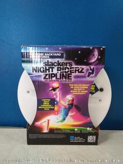 Slackers Zipline Night Riderz seat