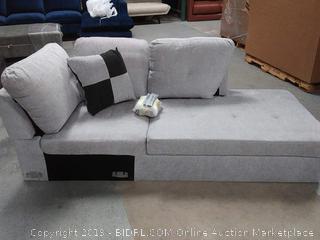 Mendoza Right Arm Chaise Light Grey