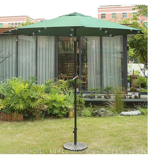 Sunnyglade 9 foot patio umbrella with solar LED lights