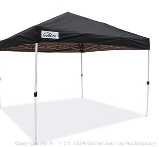 GoutiMe pop-up canopy black 10x10