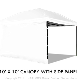 Punchau pop-up canopy tent with removable sidewall 10 x 10 White