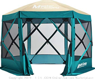 Master canopy pop-up gazebo durable tent green