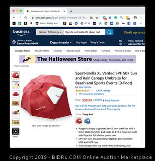 Sports umbrella XL deep red