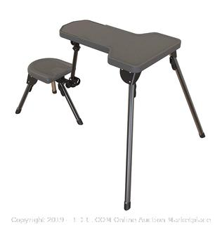Caldwell Stable Table Lite Ambidextrous Fully Collapsible Rotating All-Weather Shooting Rest for Outdoor, Range, Shooting and Cleaning (Online $133)