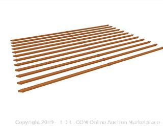 New England Arbors VA84049 10X10 kit Wood/Vinyl Shade Slat, Brown (online $204)