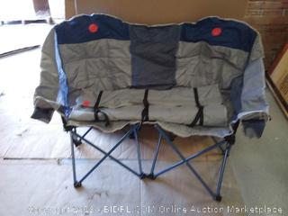 OmniCore Designs MoonPhase Home-Away LoveSeat Heavy Duty Oversized Folding Double Camp Chair (online $79)