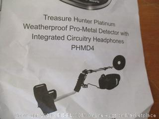 Pyle PHMD4 Treasure Hunter 4000 Weatherproof Pro Metal Detector System, Includes Headphones with Integrated Circuitry (Retail $130)