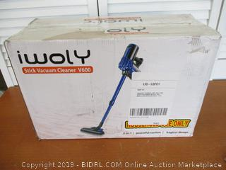 iwoly V600 Vacuum Cleaner Corded Bagless Stick and Handheld Vacuum for Hard Floor and Carpet