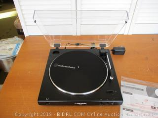 Audio-Technica AT-LP60X Fully Automatic Belt-Drive Stereo Turntable, Hi-Fidelity, Plays 33 -1/3 and 45 RPM Vinyl Records, Dust Cover, Anti-Resonance, Die-Cast Aluminum Platter (Retail $100)