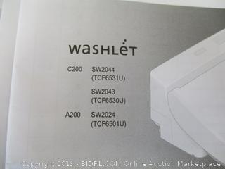 TOTO SW2044#01 C200 WASHLET Electronic Bidet Toilet Seat with Premist and SoftClose Lid, Elongated, Cotton White (Retail $425)
