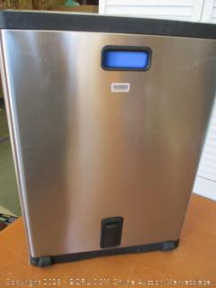 simplehuman 46 Liter / 12.2 Gallon Stainless Steel Rectangular Kitchen Dual Compartment Step Trash Can Recycler, Brushed Stainless Steel (Retail $150)