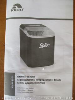 Igloo ICEB26RR Automatic Portable Electric Countertop Ice Maker Machine (Retail $130)