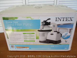 Intex Krystal Clear Sand Filter Pump for Above Ground Pools, 10-inch (Powers On, Motor Runs) Retail $100