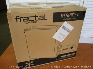 Fractal Design Meshify C - Compact Mid Tower Computer Case - 2X Fans Included - PSU Shroud (Retail $75)