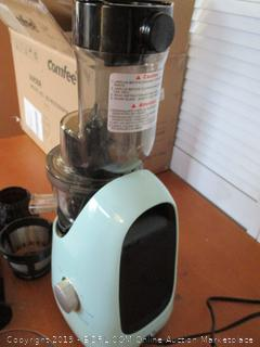 COMFEE' BPA Free Masticating Juicer Extractor with Ice Cream Maker Function (Retail $160)
