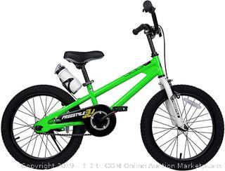 RoyalBaby BMX Freestyle Kids Bike 18 Inch in Green (online $130)