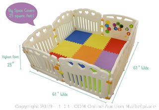 BBNet Baby Playpen with Play MAT Included (online $180)