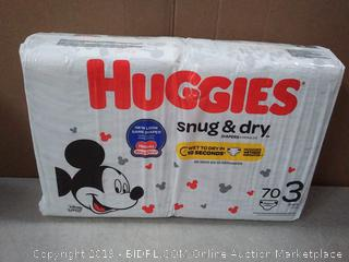 Huggies Snug & Dry Baby Diapers, Size 3 (fits 16-28 lb.)