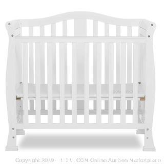 Dream On Me Addison 4 in 1 Convertible Mini Crib, White (online $173)