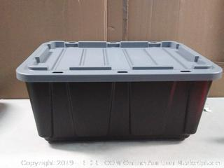 black and gray heavy-duty storage container
