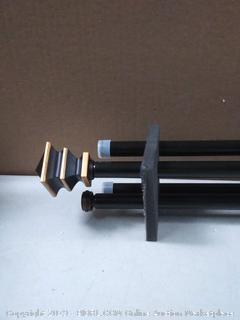 """Kenney Arts & Crafts Standard Decorative Window Double Curtain Rod, 66-120"""", Oil Rubbed Bronze (online $35)"""