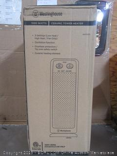 Westinghouse Ceramic Tower Heater 1500W Oscillating (MSRP $65)
