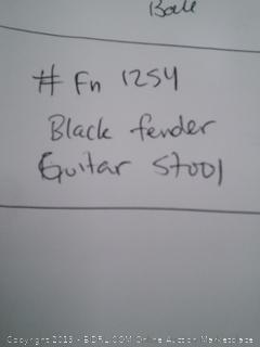 Black Fender Guitar Stool
