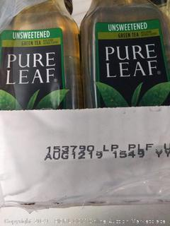 Pure Leaf, Iced Tea, 0 Calories Unsweetened Green Tea, Real Brewed Tea, 18.5 fl oz. bottles (12 Pack)